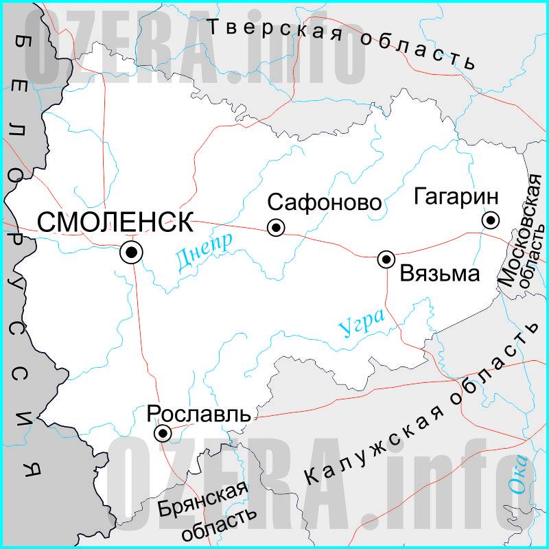 карта рыболовная смоленской области