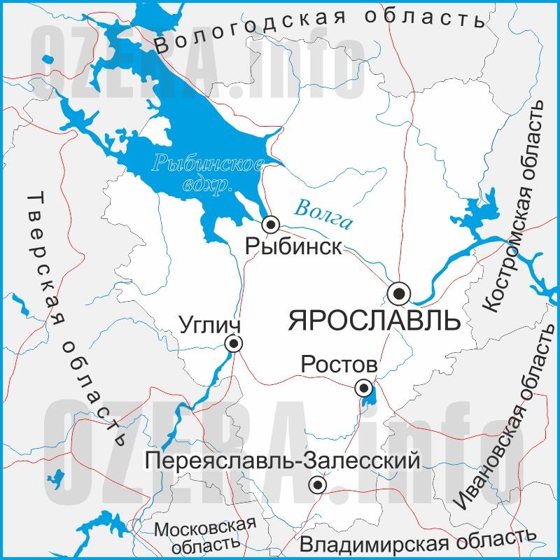 карты рыбака ярославль