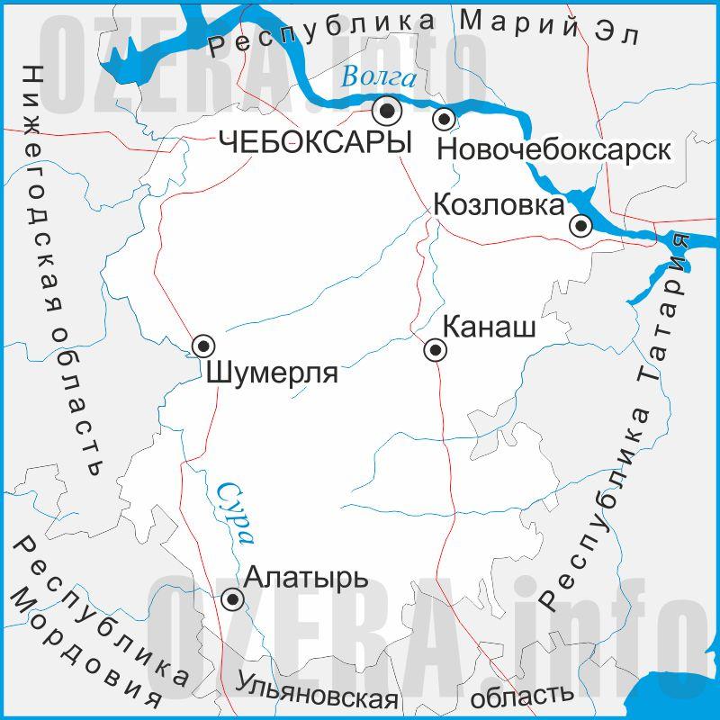 Карта Чувашской Республики