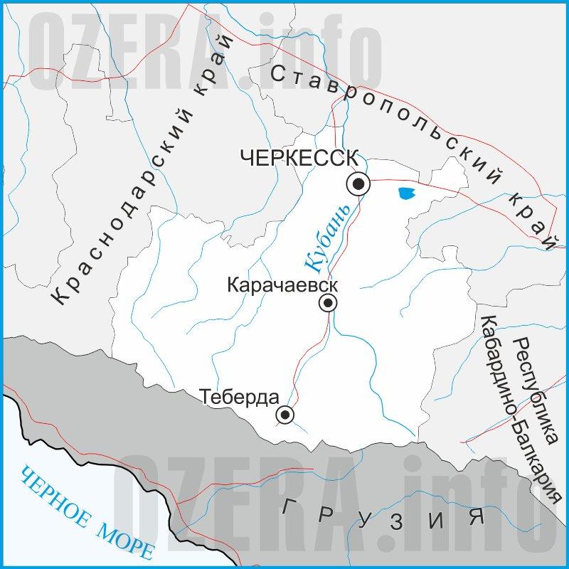 Карта Карачаево-Черкесской Республики