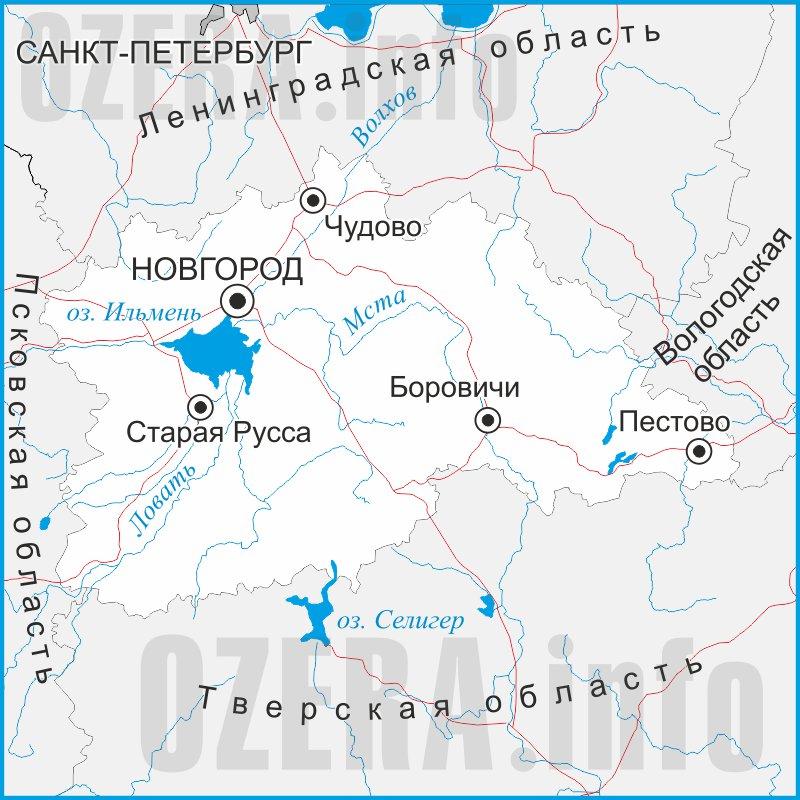 Карта Новгородской области