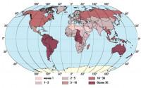 Водообеспеченность населения разных стран, м3/чел. в год